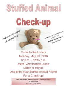 Stuffed Animal storyhour check up 2016