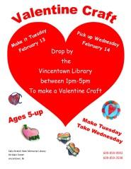 Valentine drop in craft