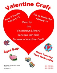 Valentine drop in craft
