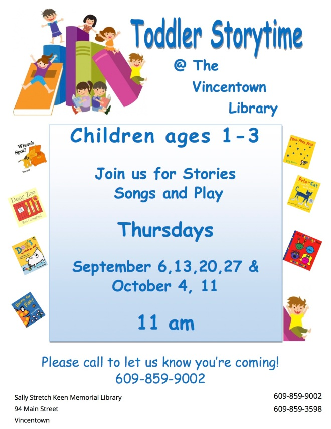 Toddler storytime Fall 2018
