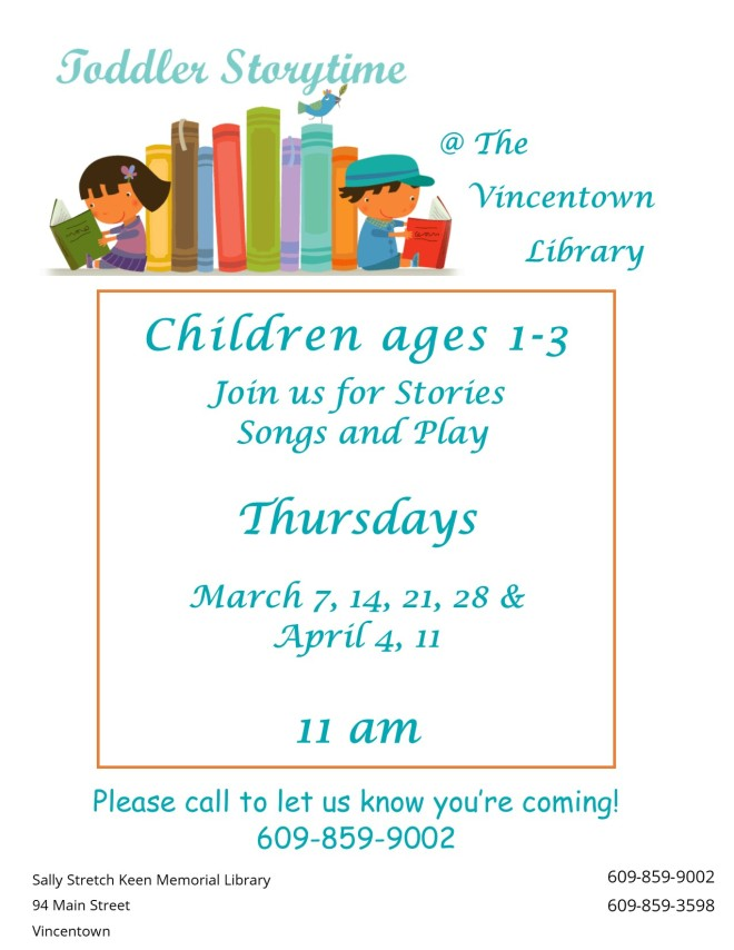 Toddler storytime Winter March April 2019